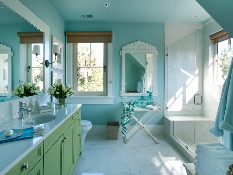 45 Blå badrumsidéer 2020 (olika uppfriskande mönster) 5