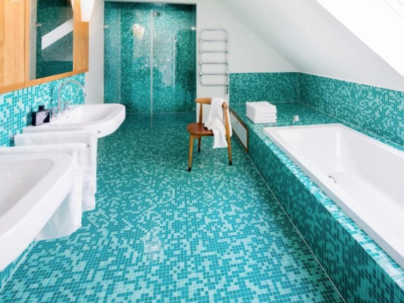 45 Blå badrumsidéer 2020 (olika uppfriskande mönster) 8