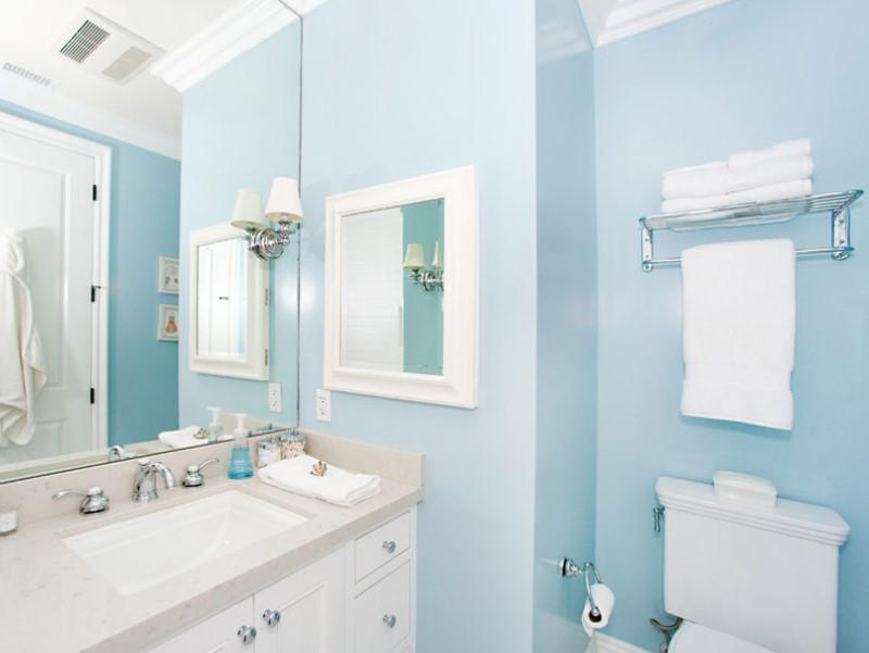 45 Blå badrumsidéer 2020 (olika uppfriskande mönster) 6