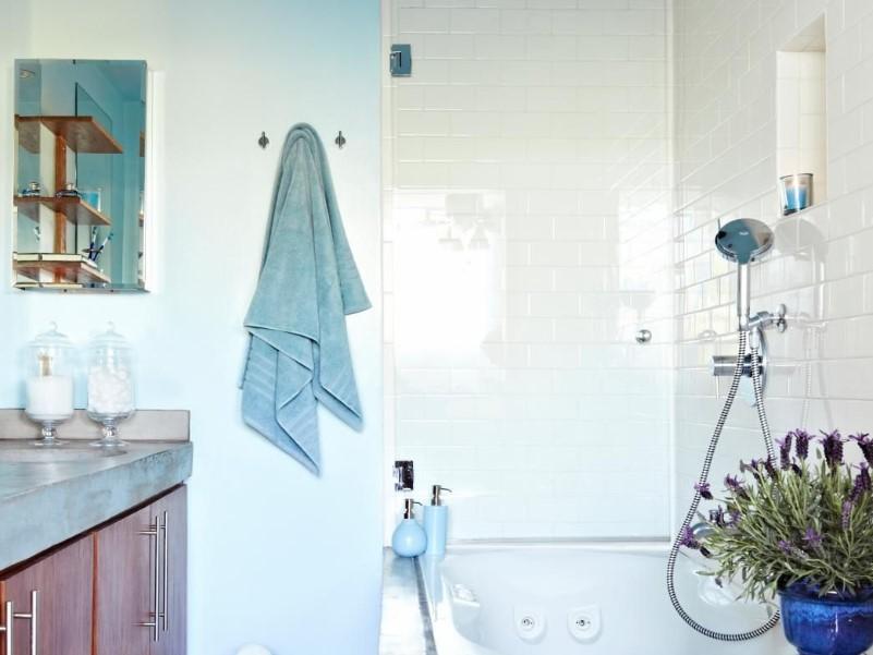 45 Blå badrumsidéer 2020 (olika uppfriskande mönster) 2