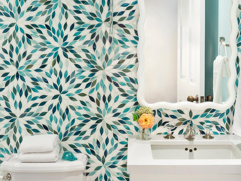 45 Blå badrumsidéer 2020 (olika uppfriskande mönster) 3