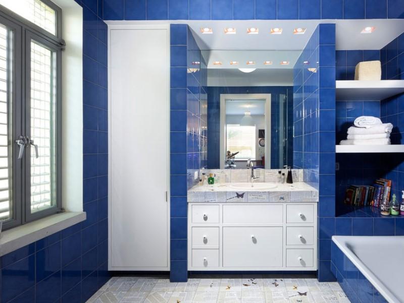 45 Blå badrumsidéer 2020 (olika uppfriskande mönster) 7