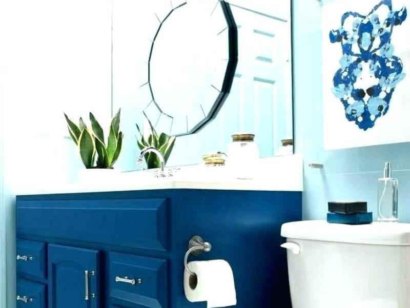 45 Blå badrumsidéer 2020 (olika uppfriskande mönster) 9