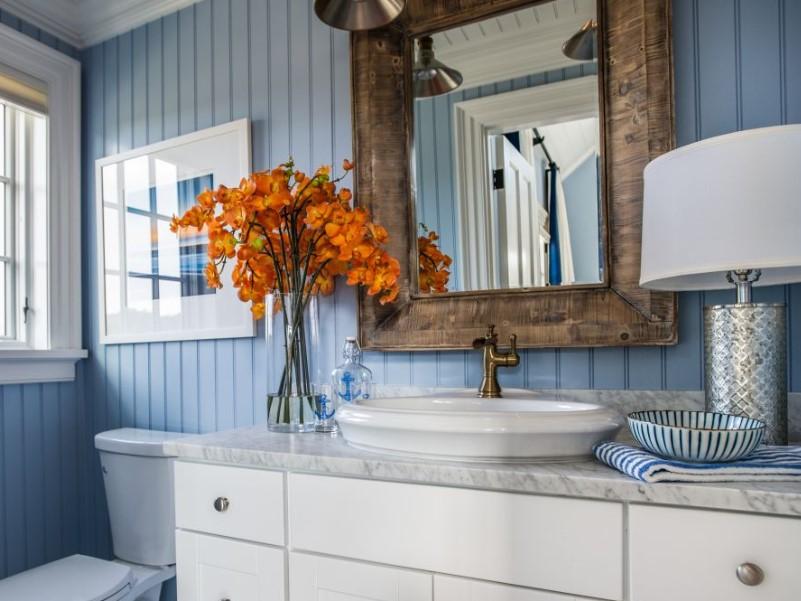 45 Blå badrumsidéer 2020 (olika uppfriskande mönster) 4