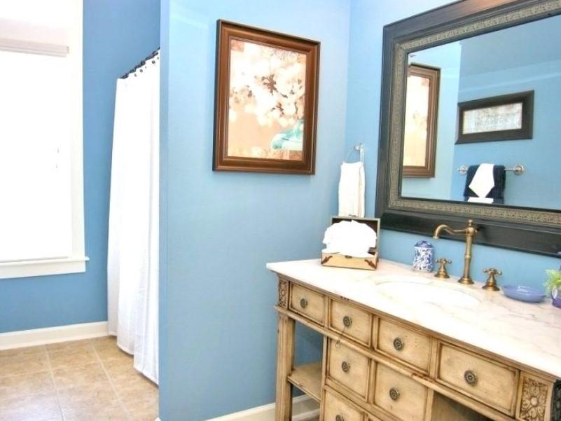 45 Blå badrumsidéer 2020 (olika uppfriskande mönster) 10