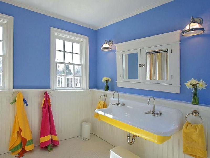 45 Blå badrumsidéer 2020 (olika uppfriskande mönster) 13