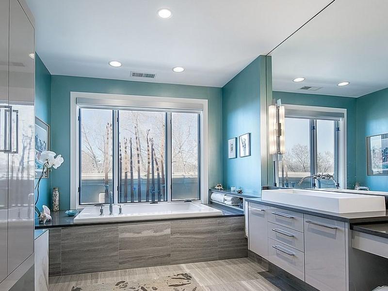 45 Blå badrumsidéer 2020 (olika uppfriskande mönster) 11