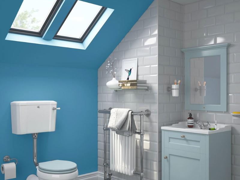 45 Blå badrumsidéer 2020 (olika uppfriskande mönster) 15