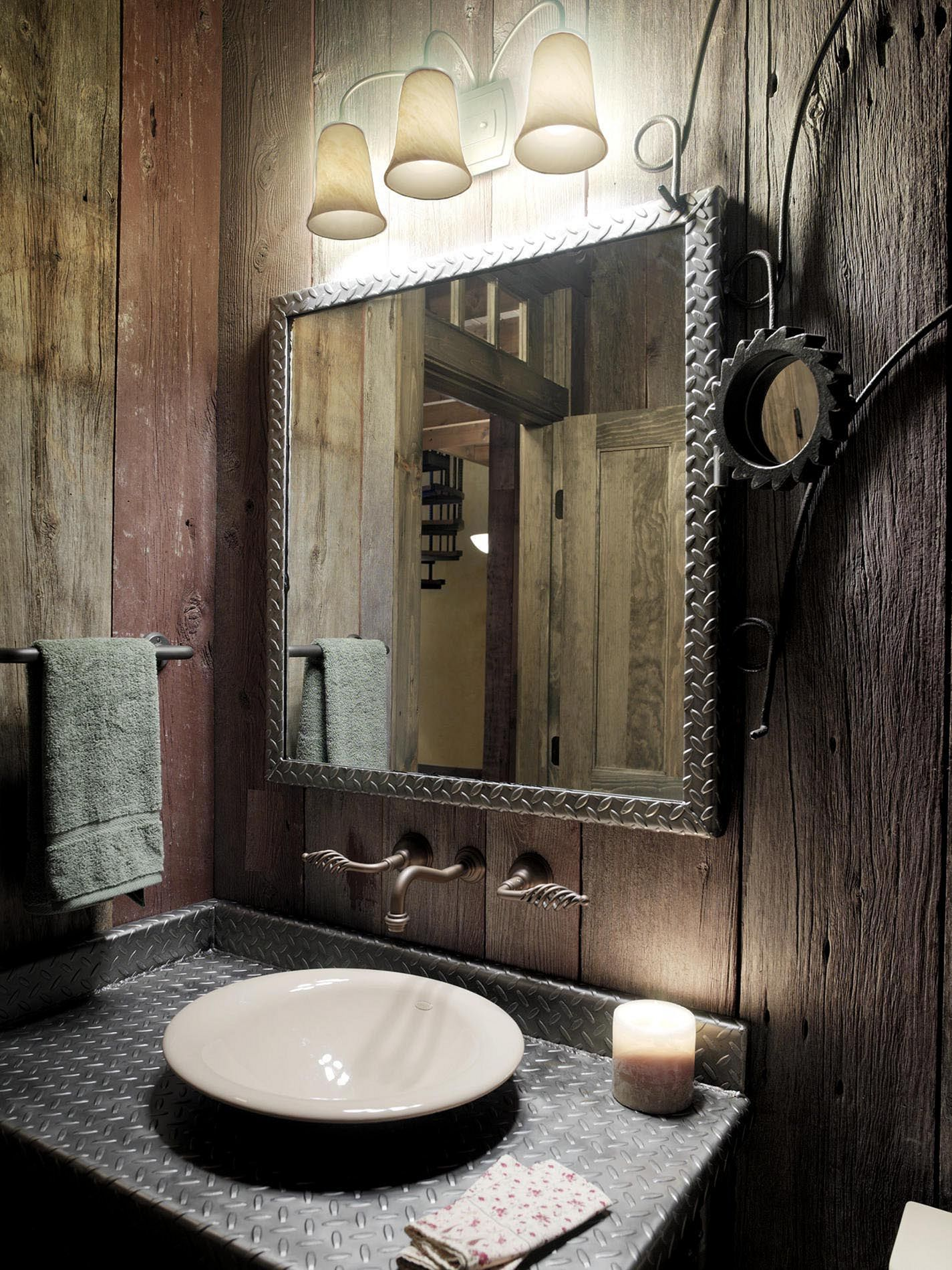 Traditionellt steampunk badrum