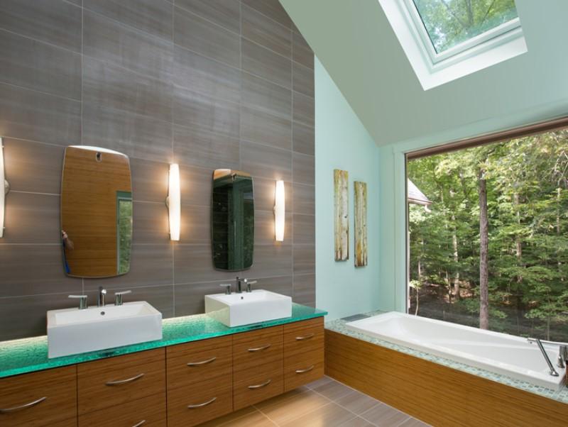 15 Idéer för bänkskivor i badrummet 2020 (och deras plus) 13