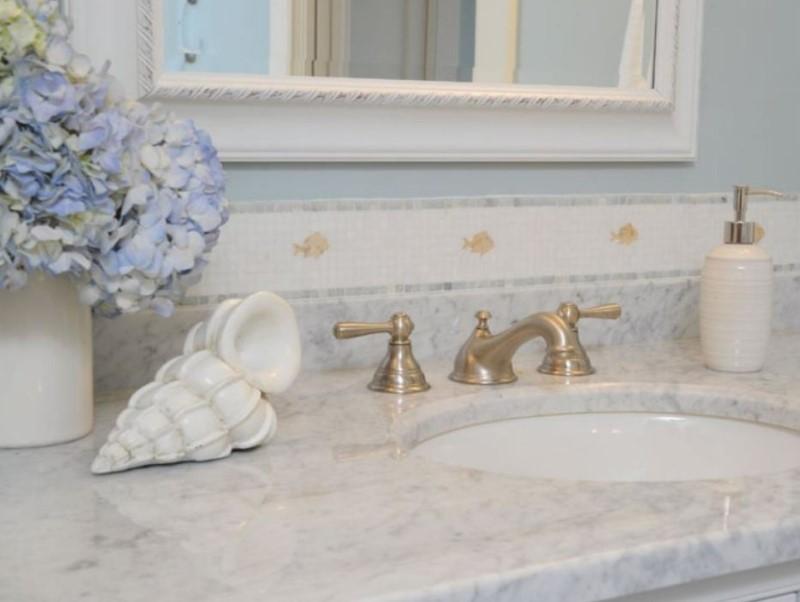 15 Idéer för bänkskivor i badrummet 2020 (och deras plus) 8