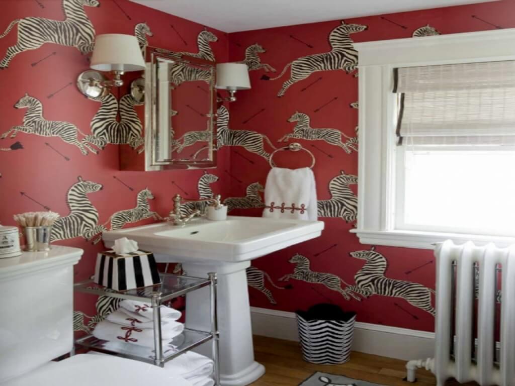 Fantastiskt rött badrum