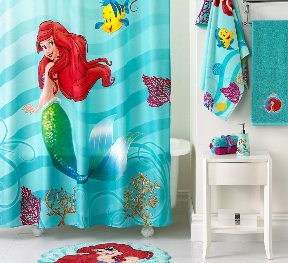 Lätt sjöjungfru badrum
