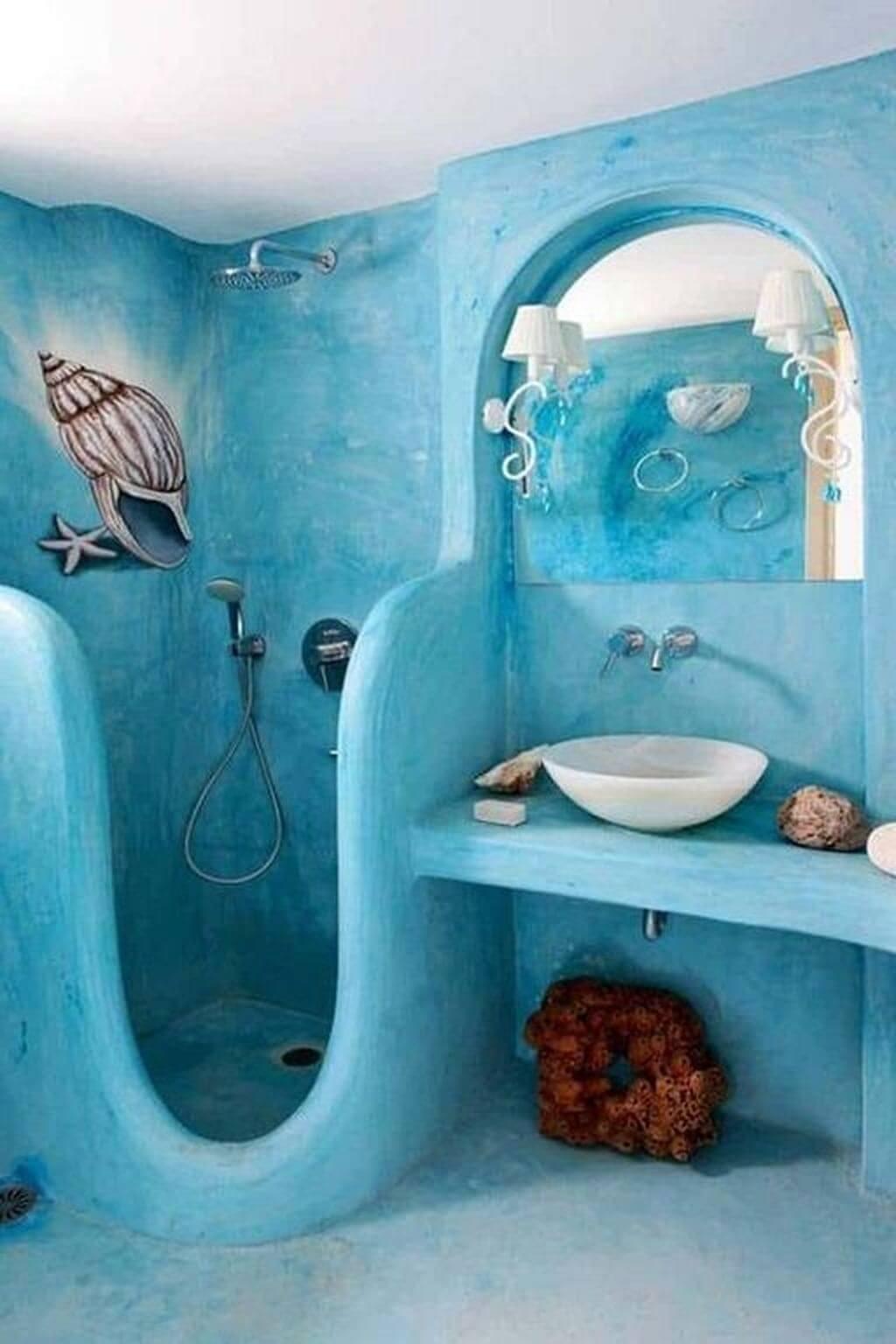 Fantastiskt sjöjungfru badrum