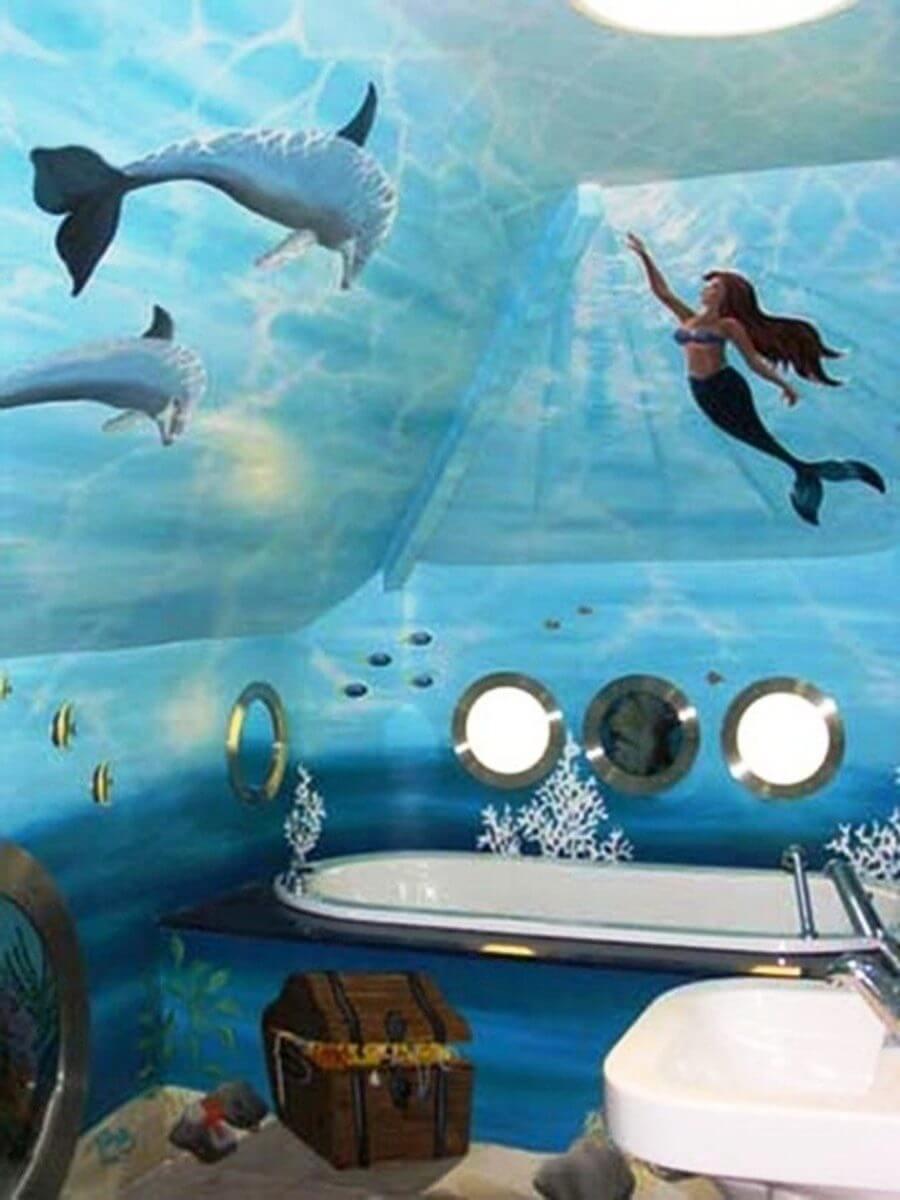 Anmärkningsvärt sjöjungfru badrum