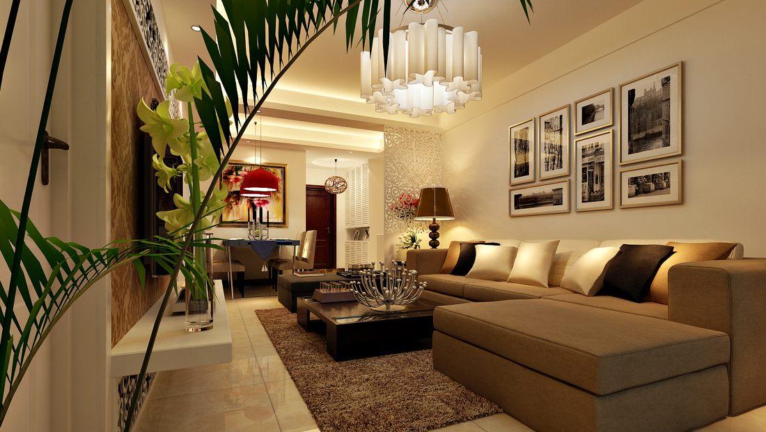 Vardagsrum med väggdekorationer.  Källa: designsbyroyalcreations.com