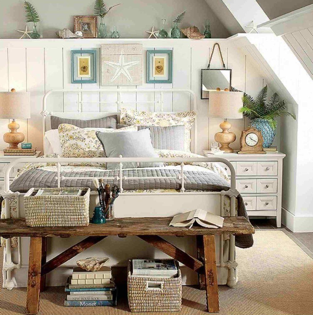 Trevligt vintage sovrum
