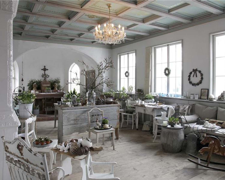 Grönt sjaskigt vardagsrum.  Källa: decoholic.org