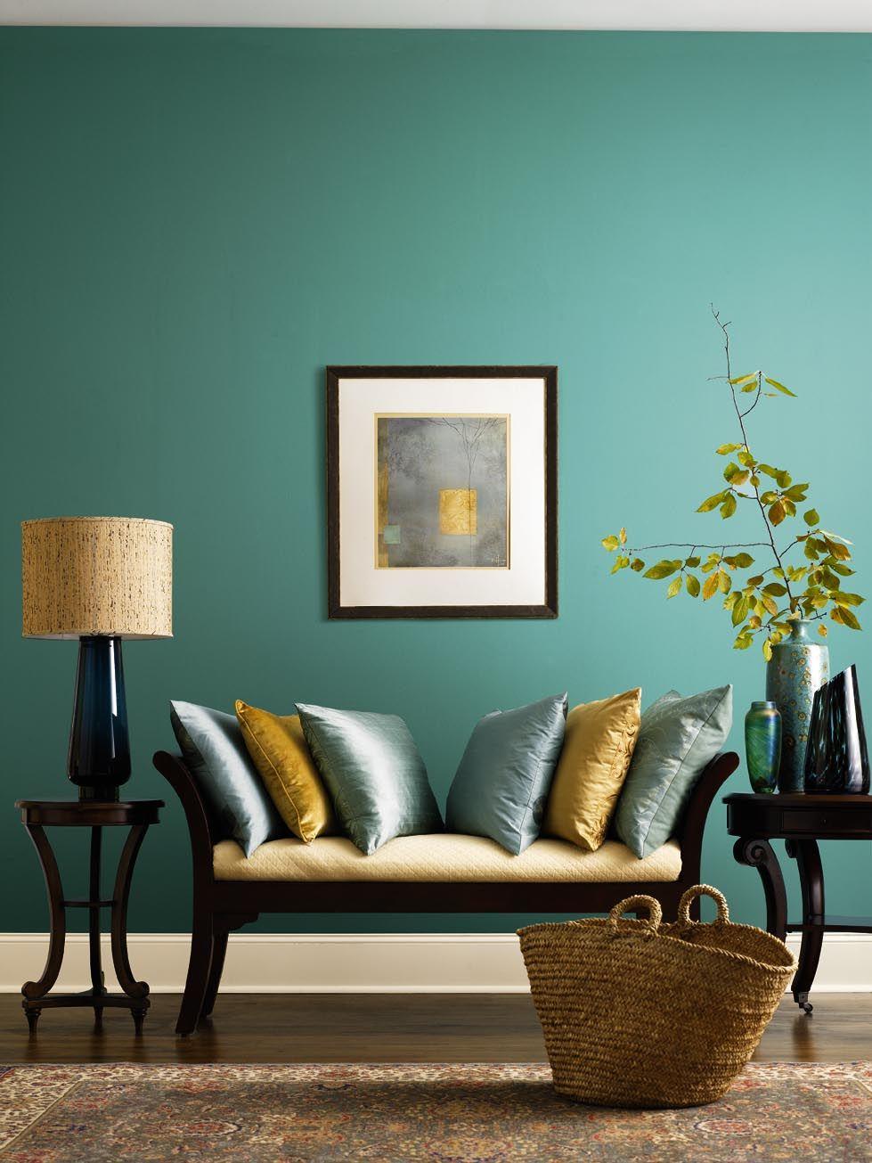 Fin blågrön och brun minispot