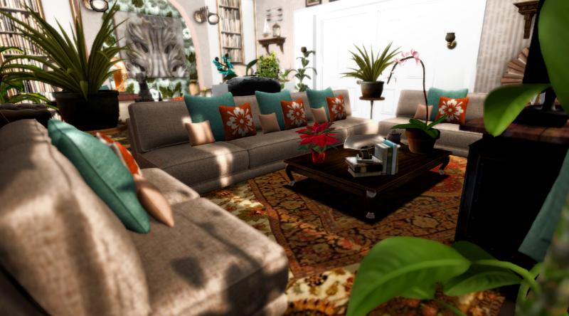Otrolig kricka och solbränna vardagsrum