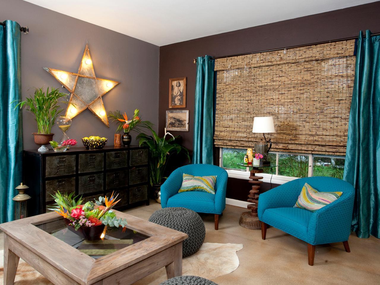 Fantasifull kricka och solbränna vardagsrum