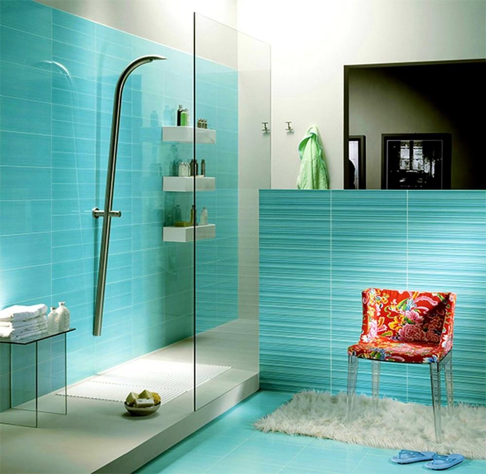Elegant turkos badrum
