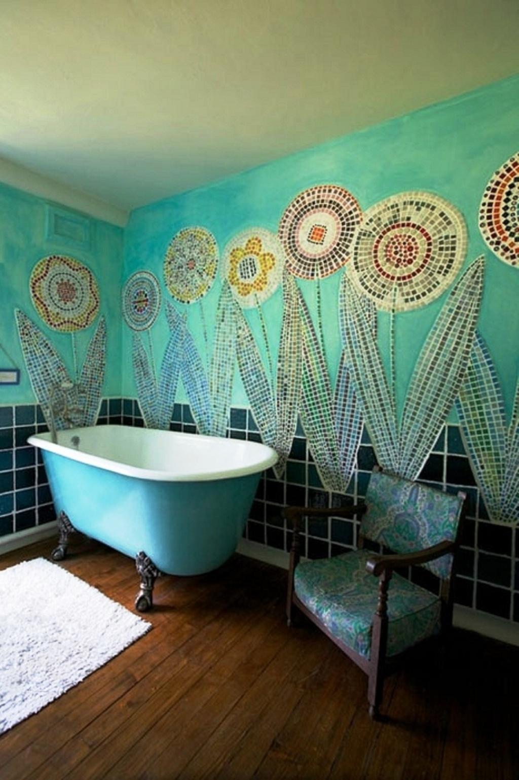 Utmärkt turkos badrum