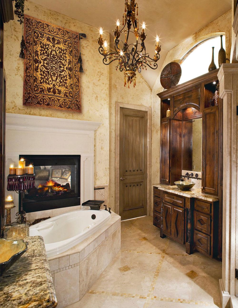 Anmärkningsvärt toskanskt badrum