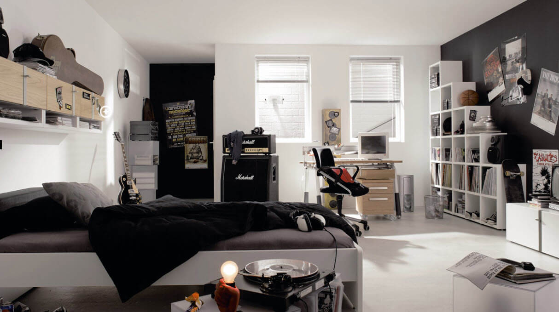 Manlig tonåring sovrum