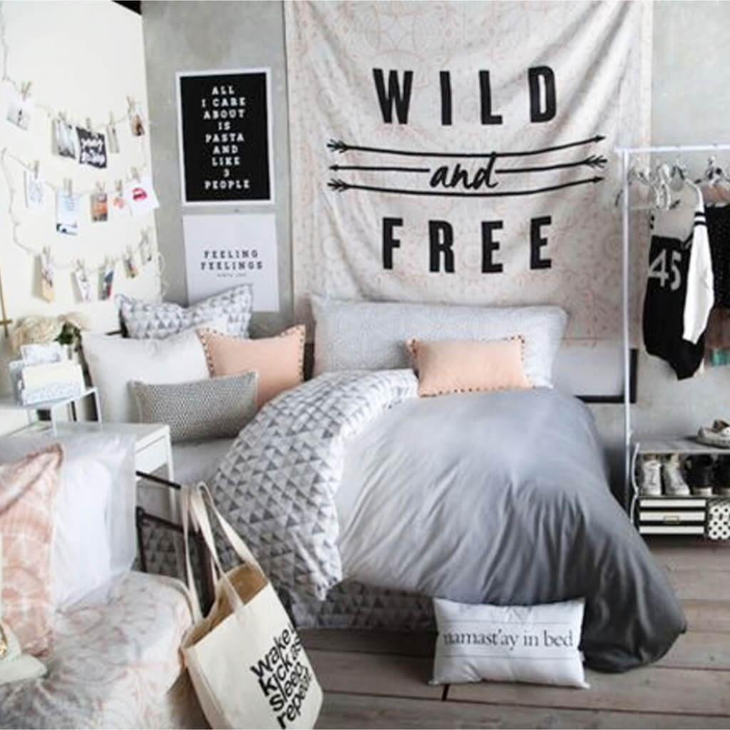 Teen-sovrum med fri stil
