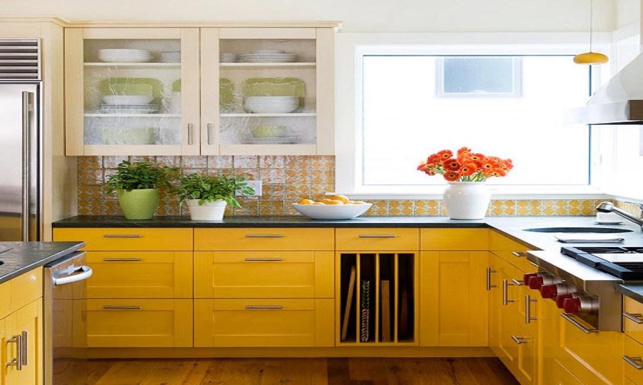 Glad köksskåp färg