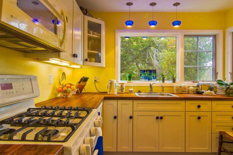 Trevligt gult kök