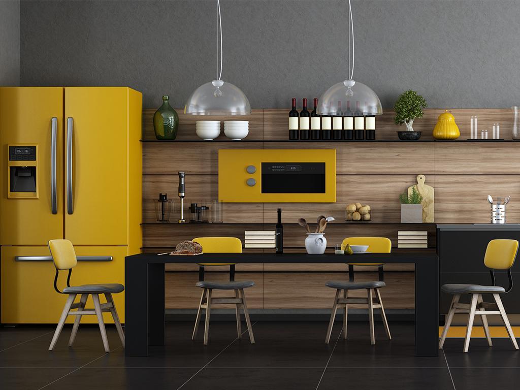Snyggt gult kök