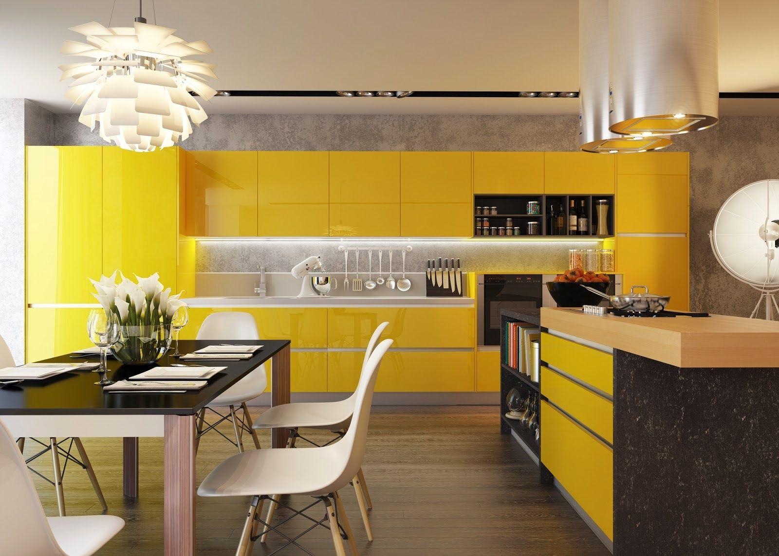 Modernt gult kök