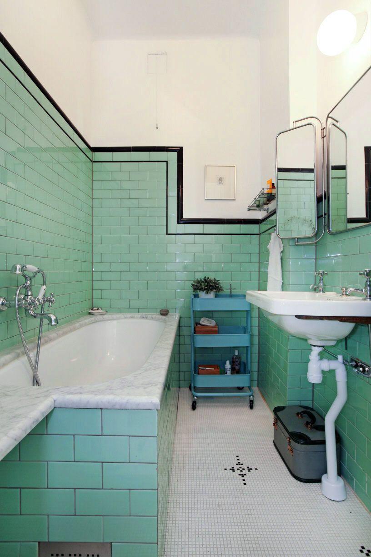Fancy retro badrum