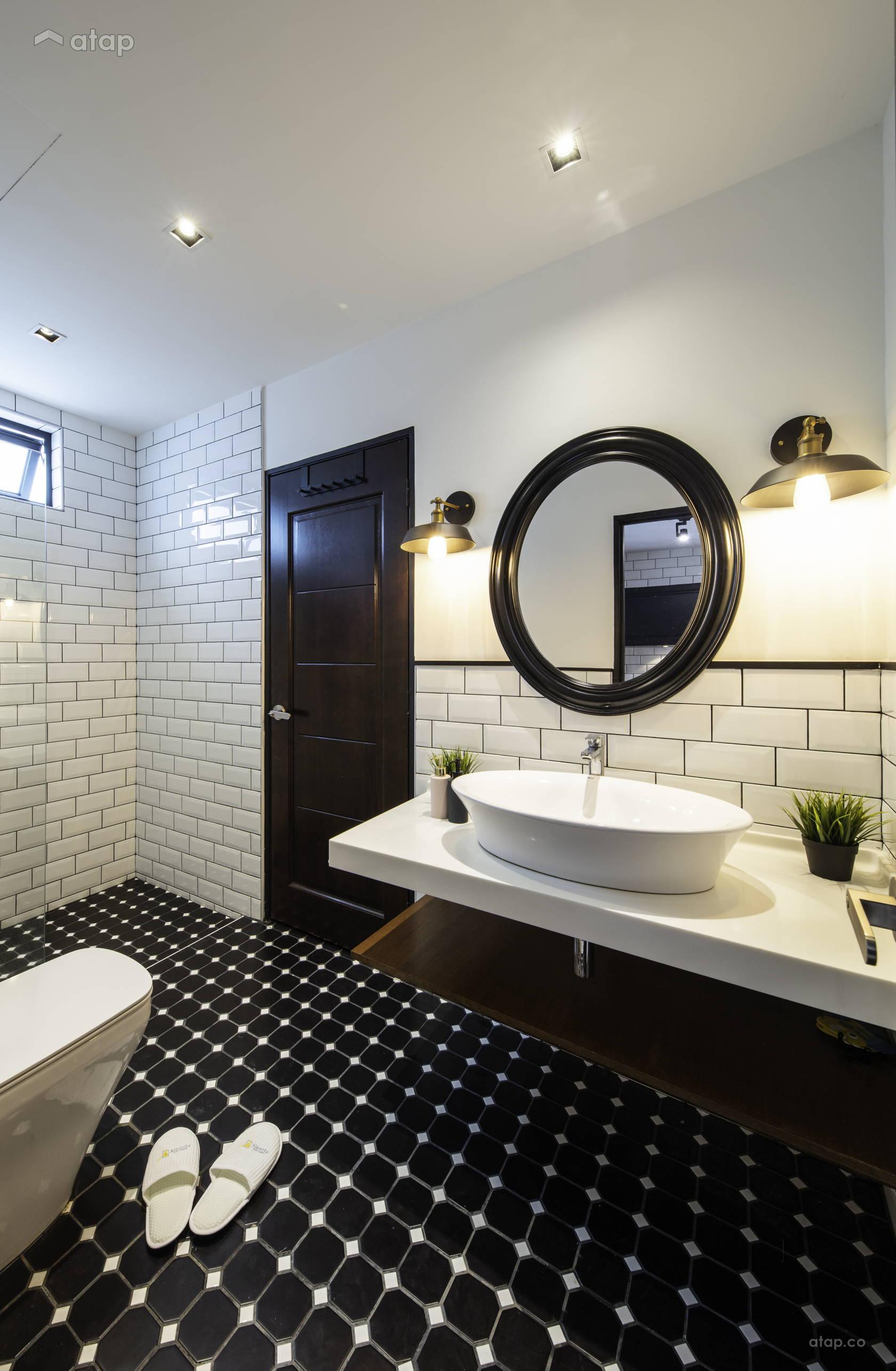 Underbart retro badrum