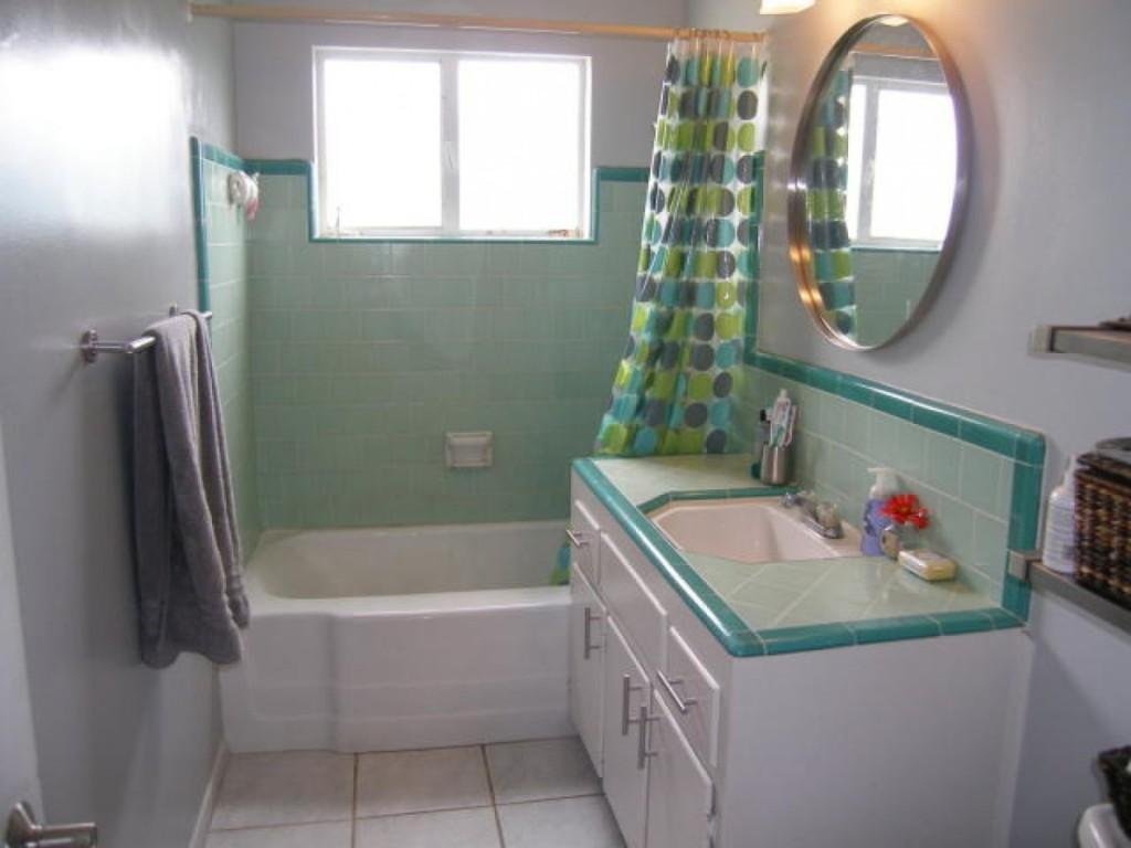 Trevligt retro badrum