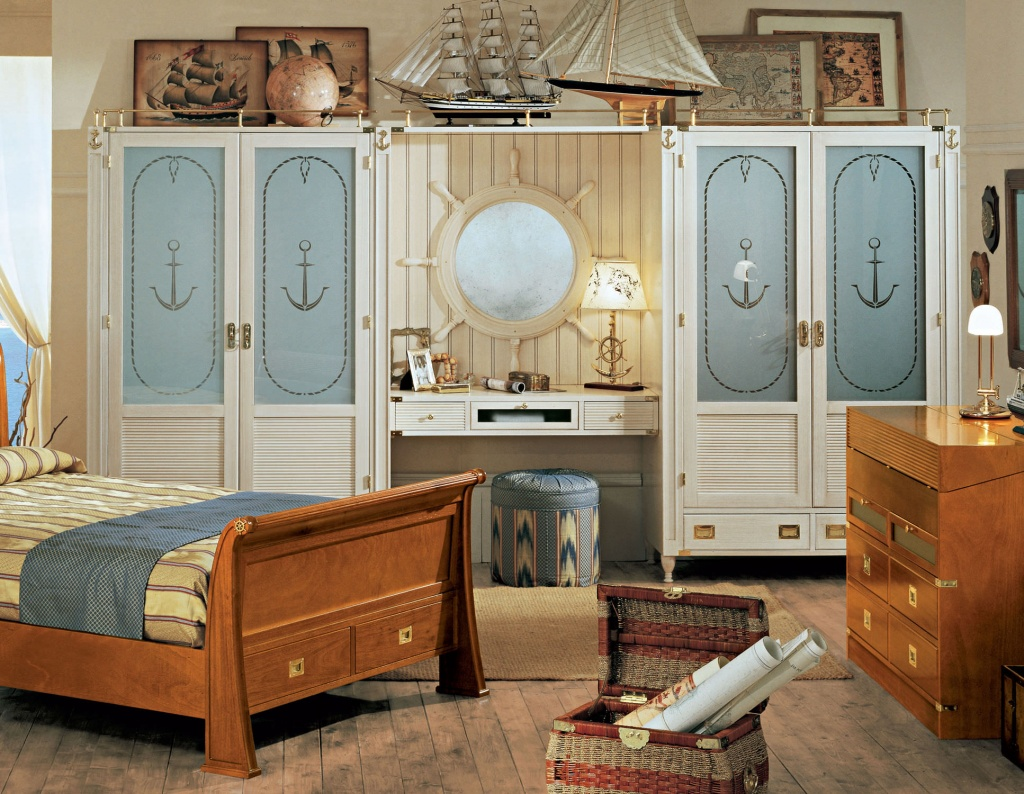Naturligt nautiskt sovrum