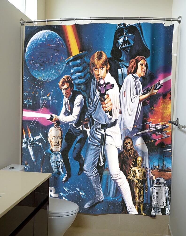 Klassiskt Star Wars badrum