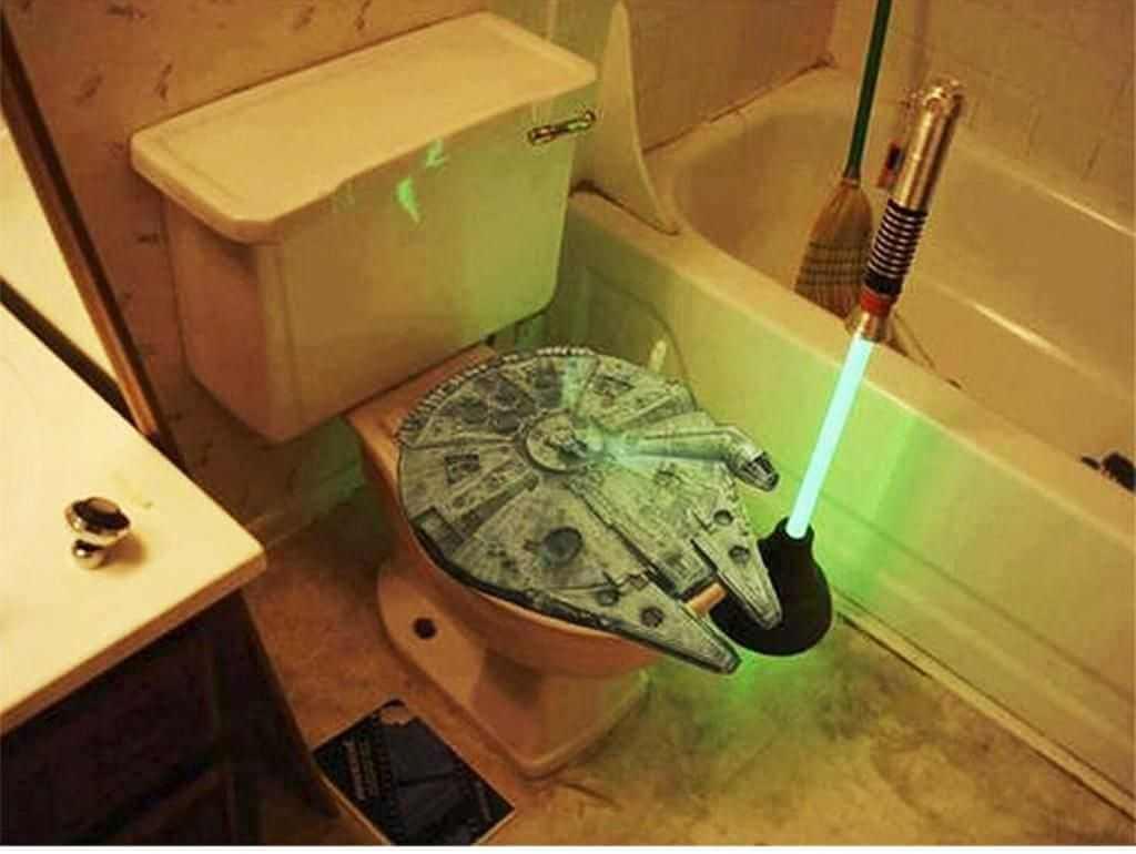 Kreativt Star Wars badrum