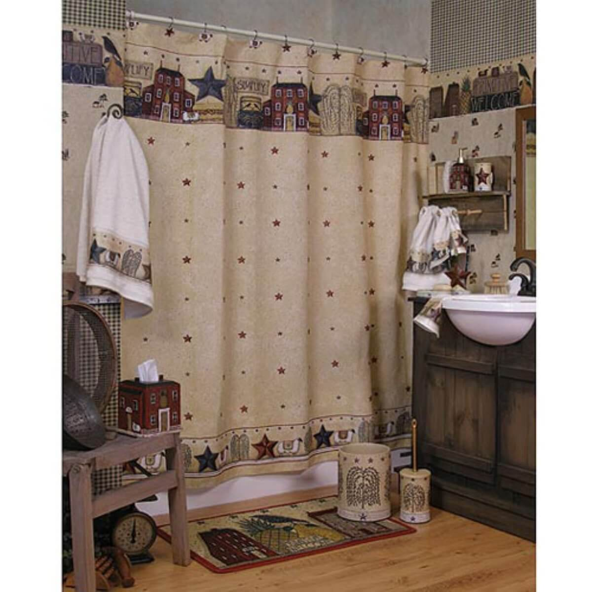 Bedårande primitivt badrum
