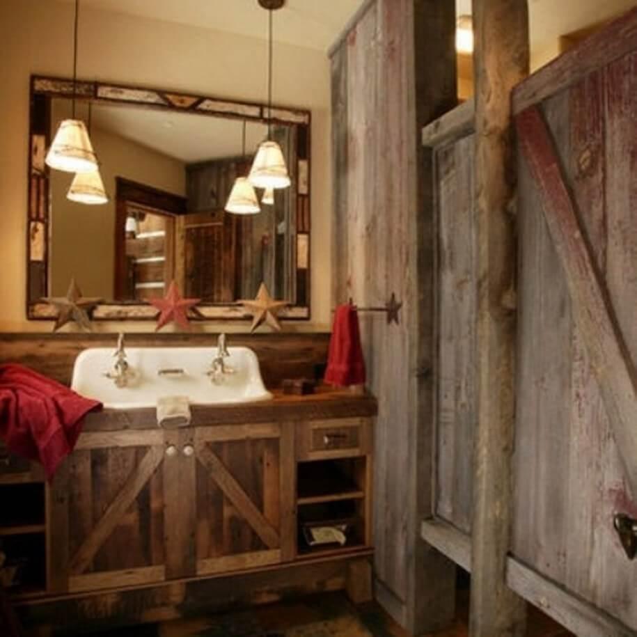 Blygsamt primitivt badrum