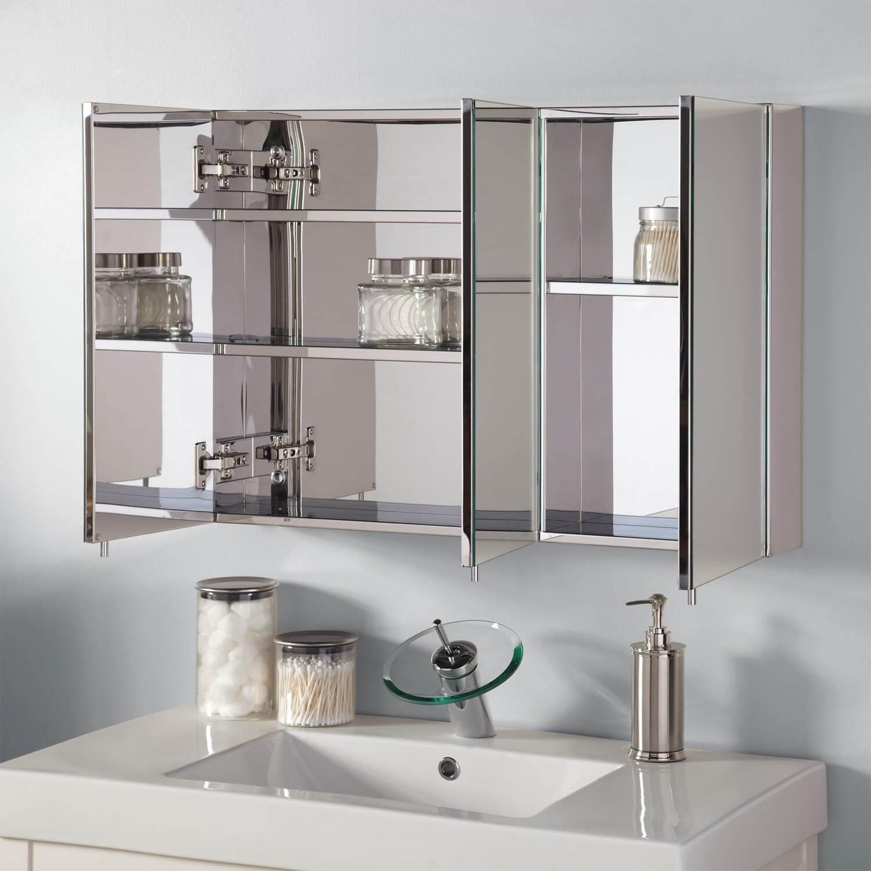 Blankt badrumsmedicinskåp