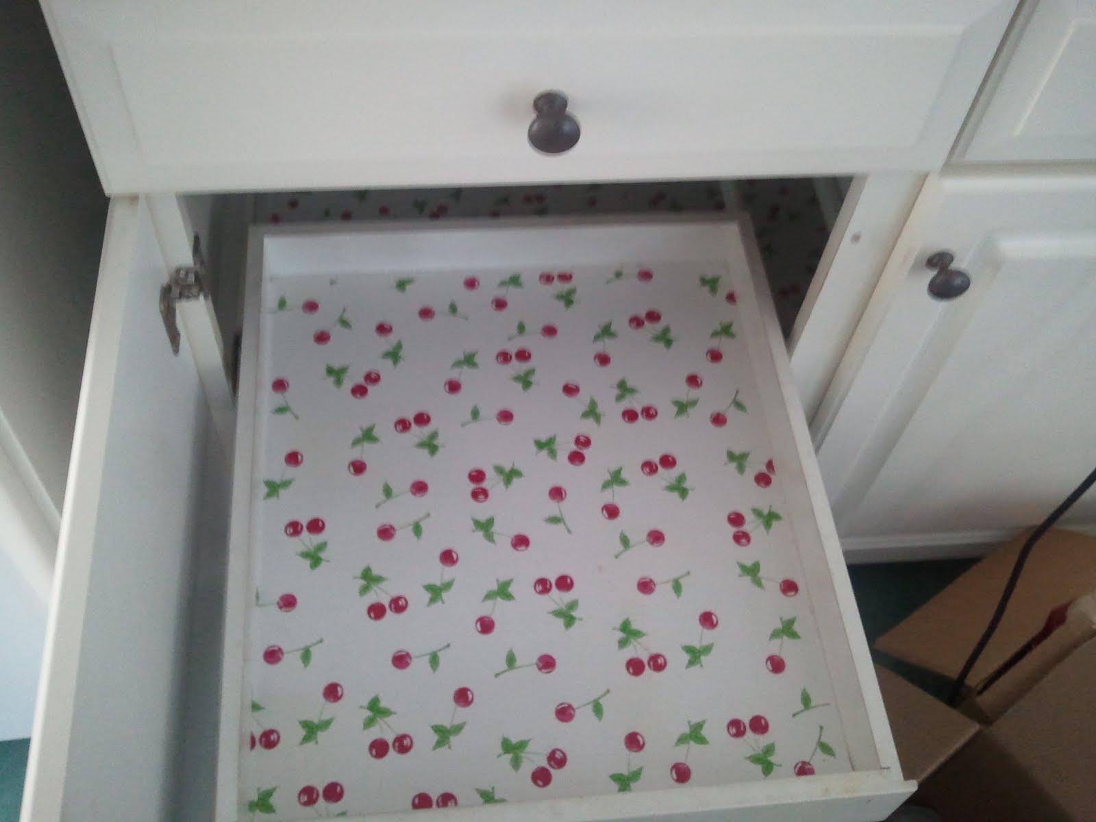 Cherry Kitchen Shelf Liner