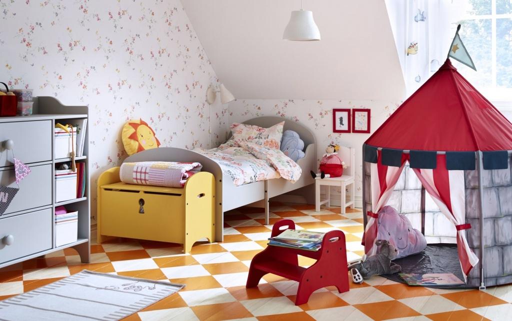 Lekplats barn sovrum