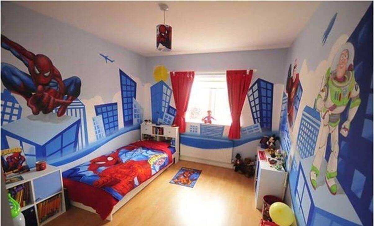 Otroligt superhjälte sovrum
