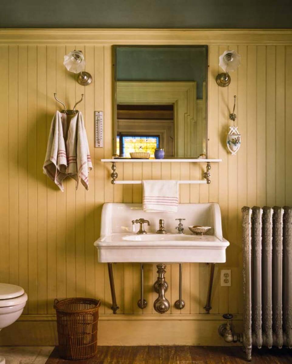 Trä badrum skräp kan