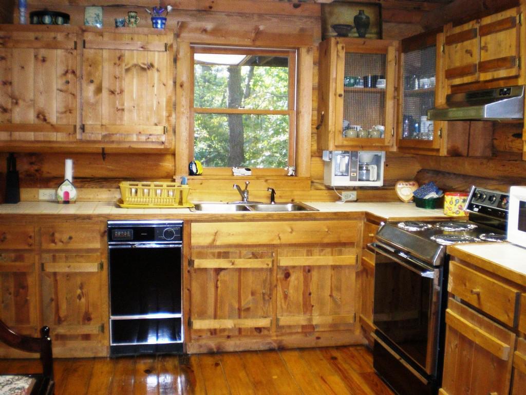 Avslappnad stuga kök