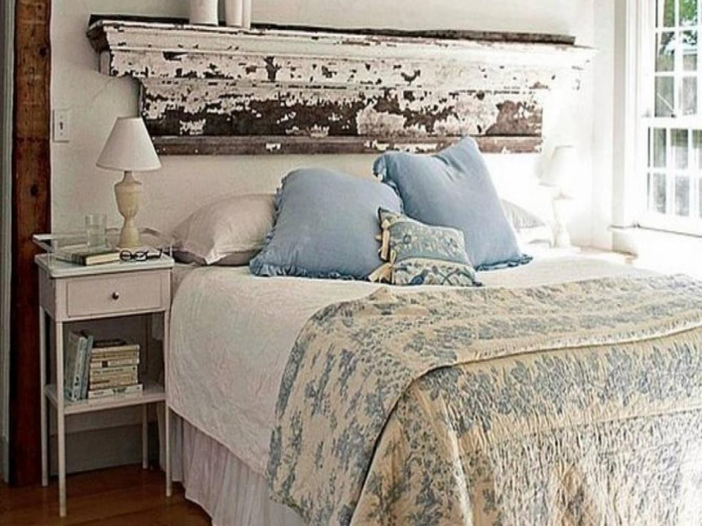 Trevligt shabby chic sovrum
