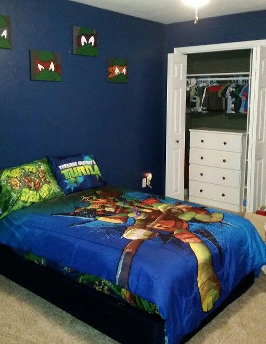 Tyst Ninja Turtles sovrum